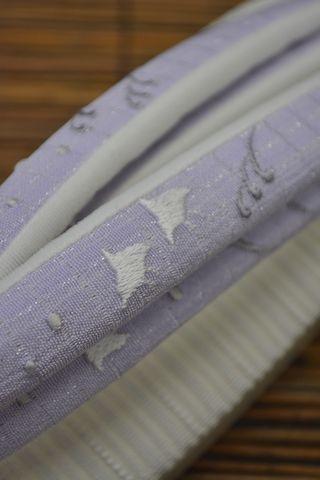 刺繍の絽鼻緒:波頭に千鳥