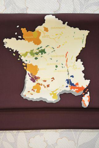フランス地図の柄