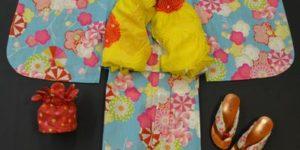 撫松庵の子供浴衣をコーディネート