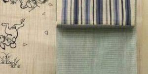 綿麻着物をコーディネート