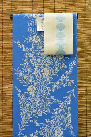 竺仙さんの綿絽浴衣をコーディネート