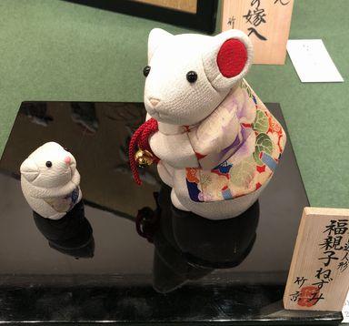 古布を使った「子」の木目込み人形