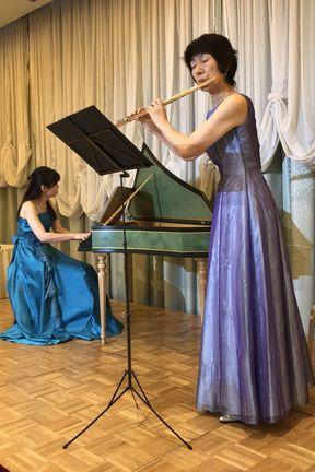 チェンバロとフルートの演奏