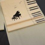 ピアノ柄の帯で単衣小紋をコーディネート