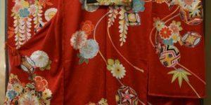 感謝祭に出品する「振袖と袋帯」