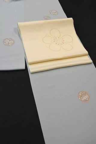 干支のねずみ柄の帯