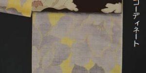 小千谷紬を半幅帯でコーディネート