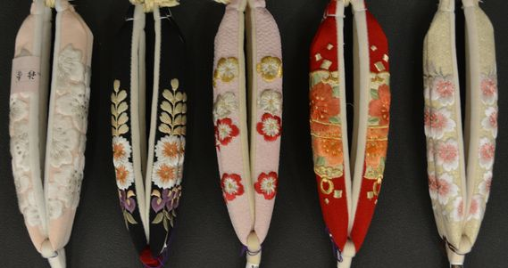 桜柄の刺繍鼻緒(A)