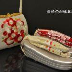 桜柄で合わせた草履とバッグ