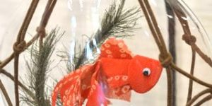 涼しさを呼ぶ飾り物/金魚