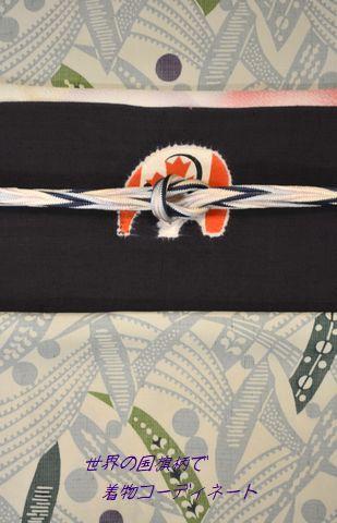 カナダの国旗で着物コーディネート