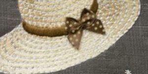 麦わら帽子柄の帯