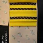 10月のご奉仕品「小紋に刺子の帯」