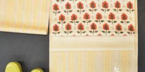 紅花紬の着物