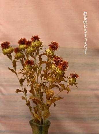 紅花のドライフラワー
