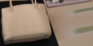 加賀友禅牡丹柄の染帯で着物コーディネート