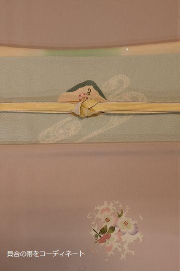 加賀友禅小紋を貝合の帯でコーディネート