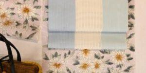 絹紅梅小紋を夏博多織八寸帯でコーディネート