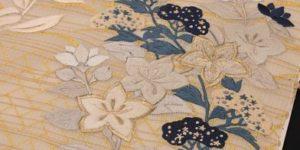 夏の刺繍名古屋帯