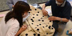 子供浴衣の縫い上げ勉強会
