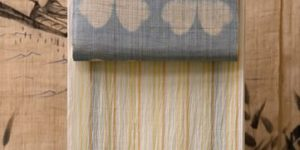 小千谷ちぢみの着物と絞り染めの麻九寸帯