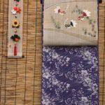 綿絽の加賀染め夏衣を夏帯でコーディネート