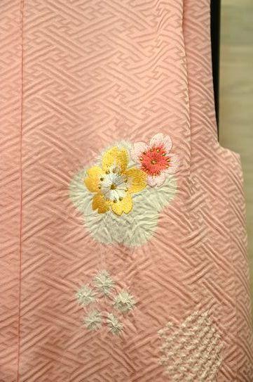 ピンクの被布コート「桜」