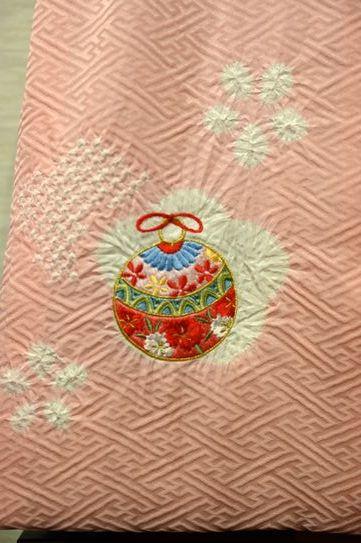 ピンクの被布コート「鈴」