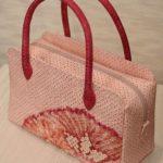 きもの再生/絞り羽織から作ったオーダーメイドバッグ