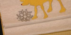 雪にトナカイの刺繍帯