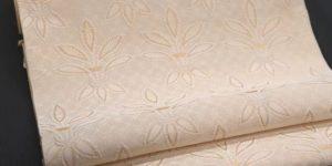 織楽浅野:百合花文の帯